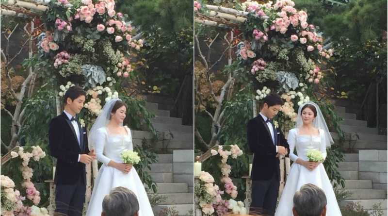 song joong ki song hye kyo shed tears of joy on their wedding day